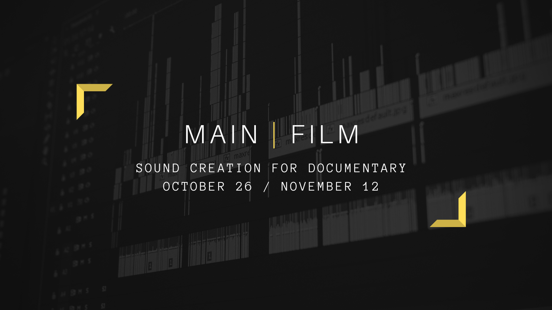 SOUND CREATION FOR DOCUMENTARY