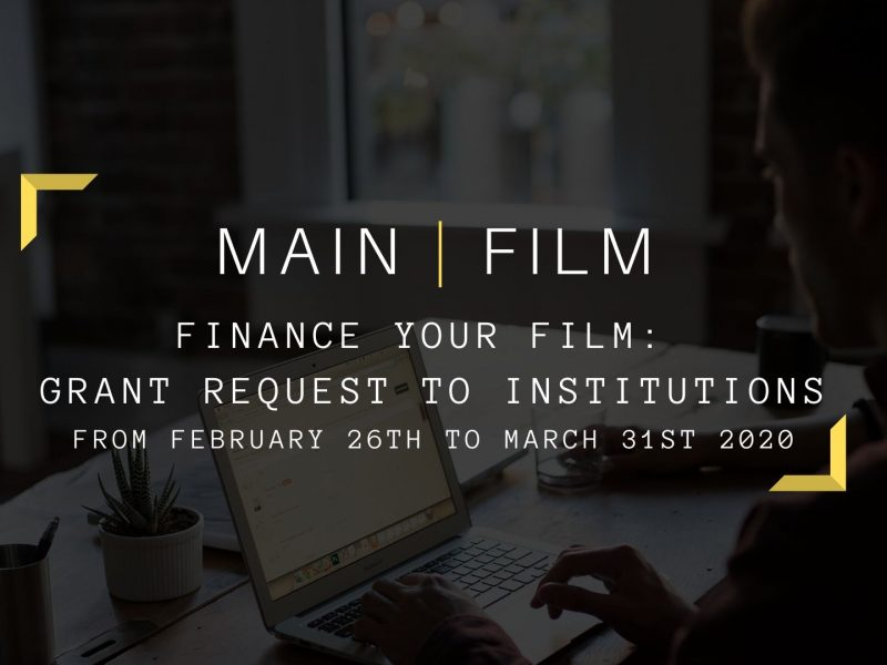 Finance your film: Grant request to institutions