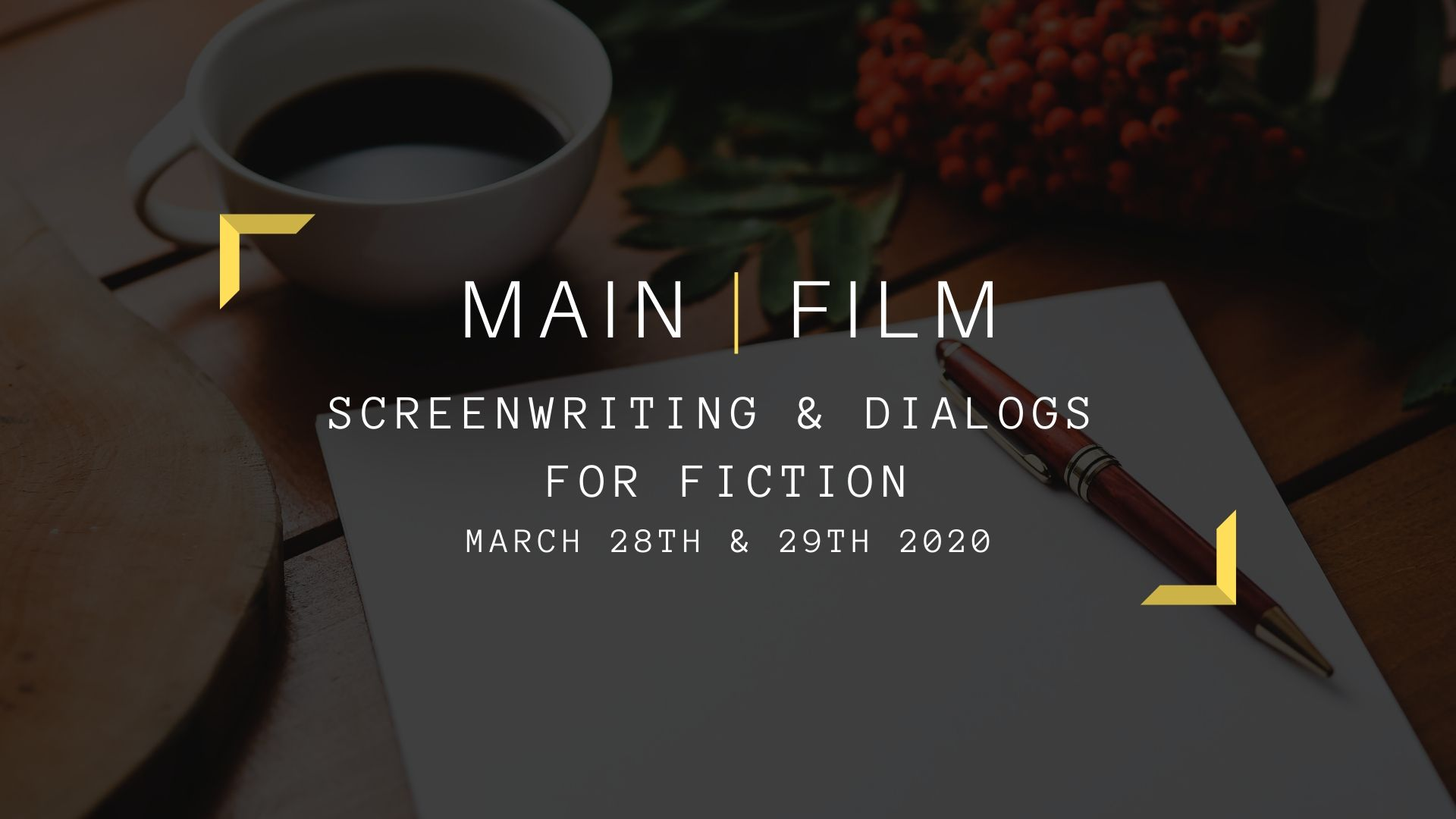 Screenwriting and dialogs for Fiction | In person