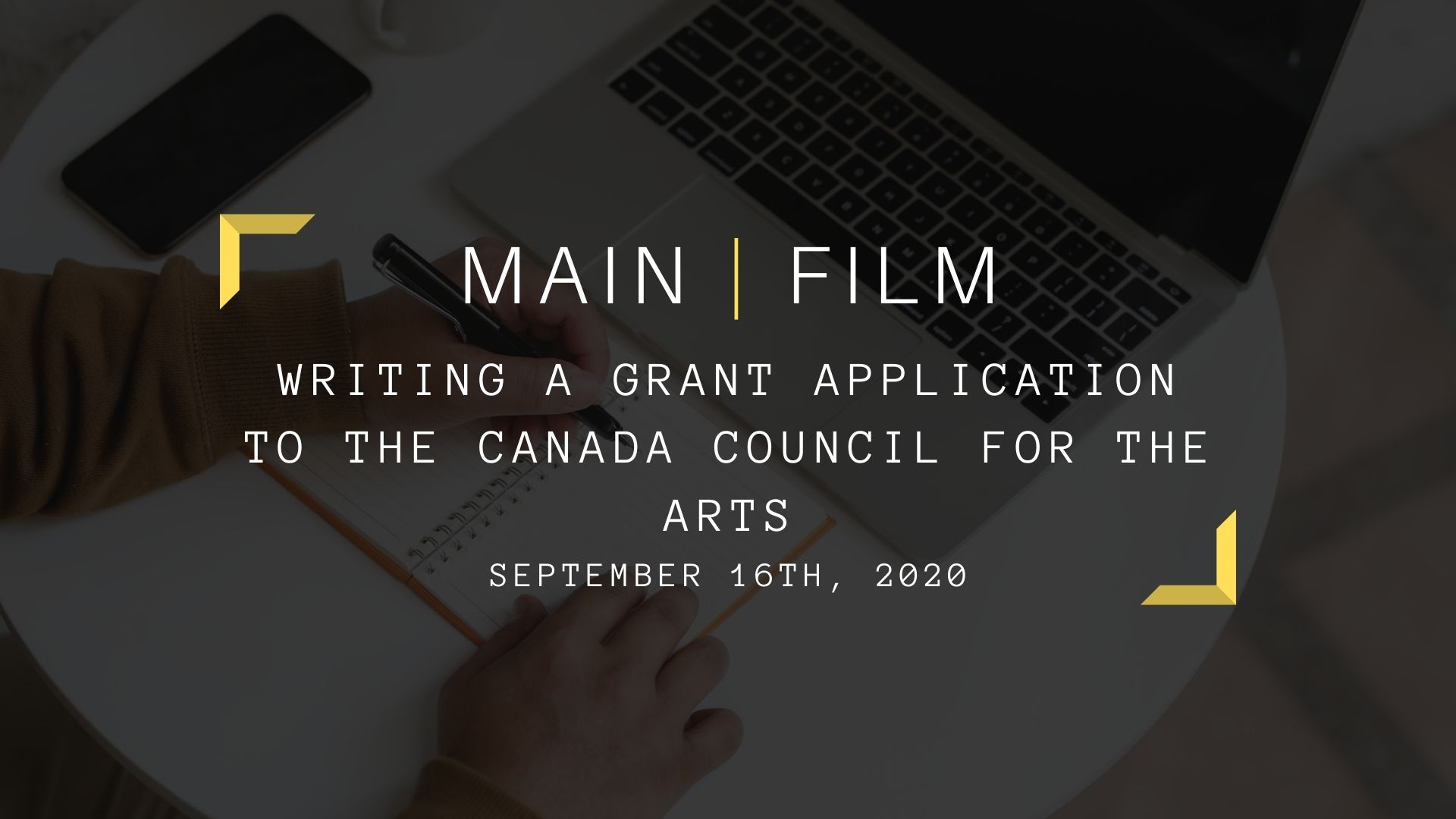Writing a grant application to the Canada Council for the Arts    Online