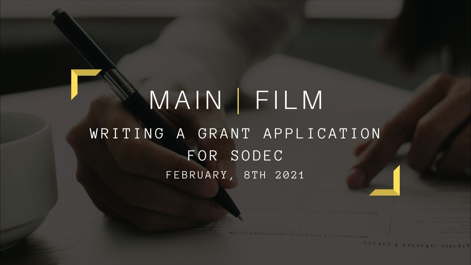 Writing a grant application for SODEC | Online
