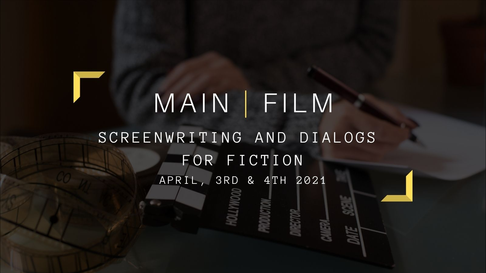 Screenwriting and dialogs for Fiction | In-person