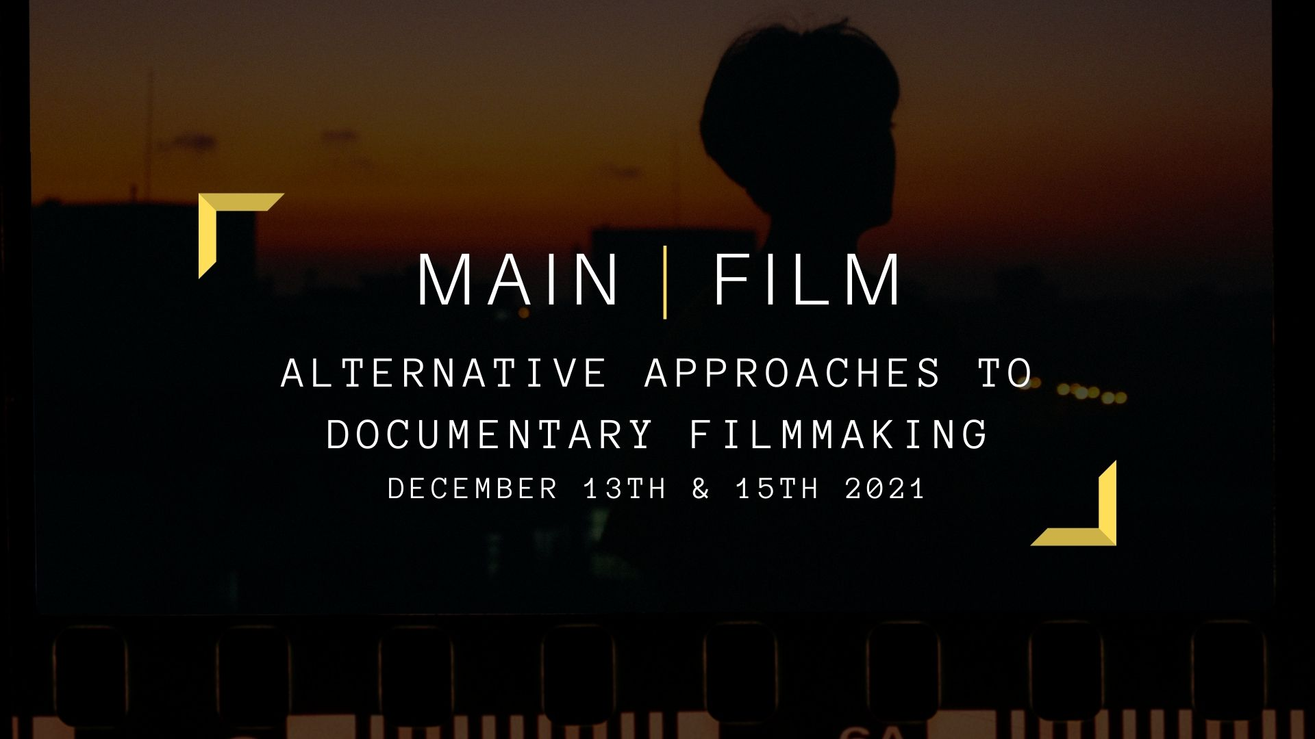 Alternative Approaches to Documentary Filmmaking   Online or in person