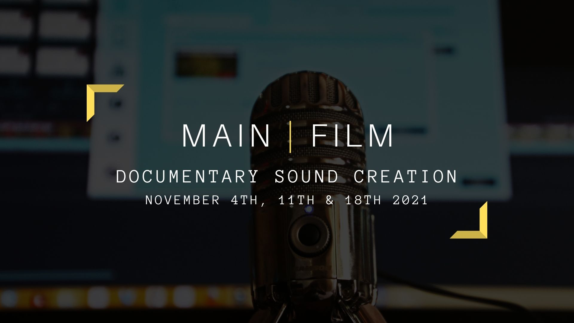 Documentary Sound Creation   Online & in person